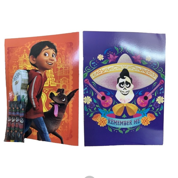 Disney Pixar Other 2 Coco Coloring Book With Crayon For Kids Poshmark